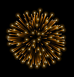 Beautiful gold firework golden salute isolated on vector