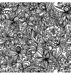 beautiful seamless pattern with swirls vector image