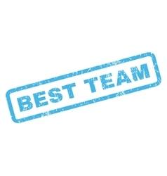Best Team Rubber Stamp vector