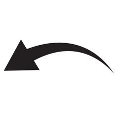 black arrow icon on white background flat style vector image