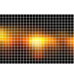 Black orange yellow square mosaic background over vector
