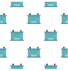Blue battery car pattern seamless vector