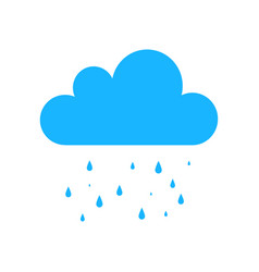 blue rain icon isolated on background modern simp vector image