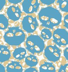 Blue skulls seamless pattern geometric vector image