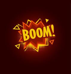 Boom speach balloon explosive sale baner vector