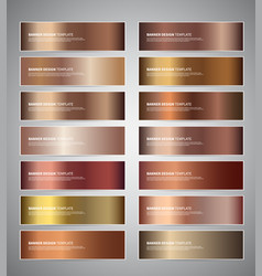 Bronze gradient banners vector