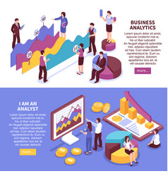business analyst banners set vector image