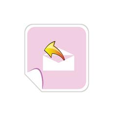 button letter envelope vector image