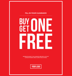 buy one get one off sign vector image