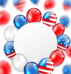 Celebration Clean Card with Balloons in American vector image