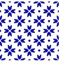 ceramic thai pattern indigo vector image