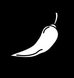 chili pepper dark mode glyph icon vector image