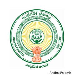Coat arms andhra pradesh is a indian region vector