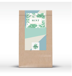 Cocoa chocolate craft paper bag product label vector