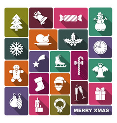collection symbols new year and christmas vector image