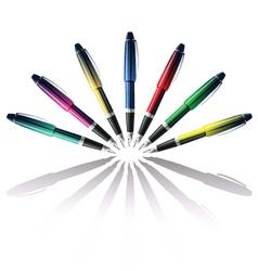 Color pen vector