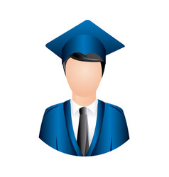 colorful man graduation icon vector image