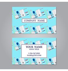 Creative horizontal business card name card vector image