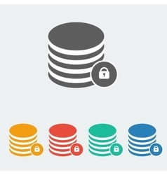 Data protection icon vector