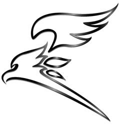 eagle tattoo tribal vector image