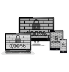 Electronic devices security concept vector