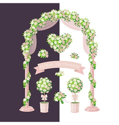 floral decoration beige vector image