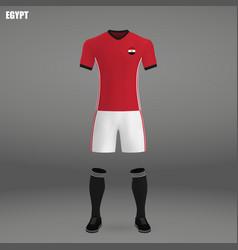 football kit of egypt 2018 vector image