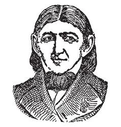 Frederick wilhelm august froebel vintage vector