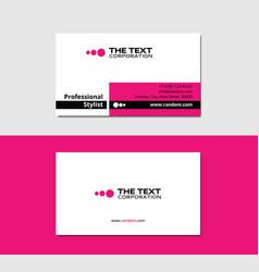 Glamor business card vector