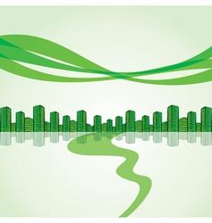 Green city escape stock vector
