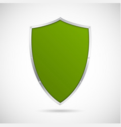 Green shield icon vector