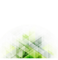 Green triangles design abstract background with vector