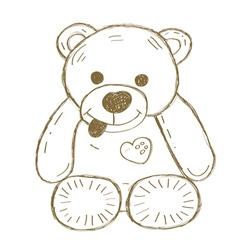 Hand drawn isolated Teddy bear vector