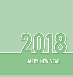 Happy new year 2018 paper postcard vector