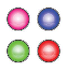 internet buttons in multiple colors vector image