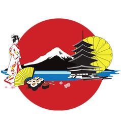 Japan Culture Background vector image