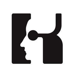 K k logo logotype - english font upper case letter vector