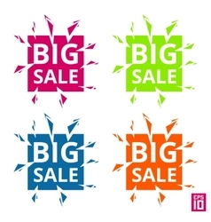 Label Big sale vector image