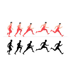 Man run vector