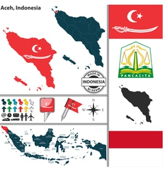 Map of Aceh vector image