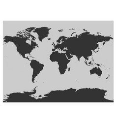 map of world dark grey silhouette high vector image