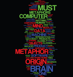 Metaphors of the mind part i text background word vector