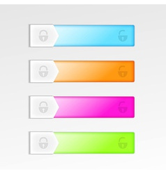 Mobile device interface sliding elements vector