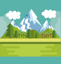 Mountain landscape design vector