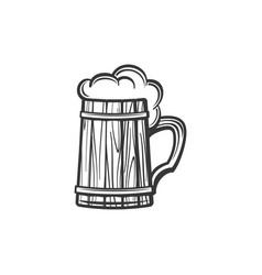 mug frosty dark light beer isolated icon vector image