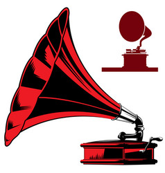 Old gramophone musical apparatus stock vector