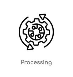 Outline processing icon isolated black simple vector