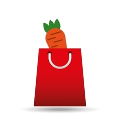 Package buying fruit carrot fresh icon vector