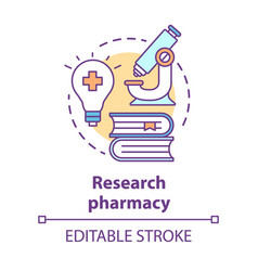 pharmacy concept icon pharmaceutical research vector image