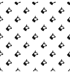 Pug dog pattern simple style vector image
